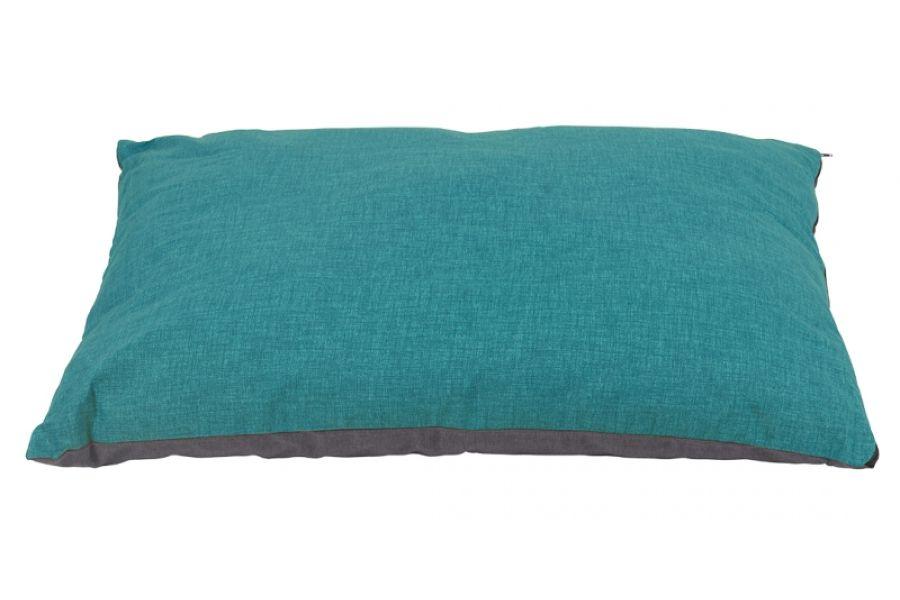 Hondenkussen stone turquoise grijs for Www comfort kussen nl