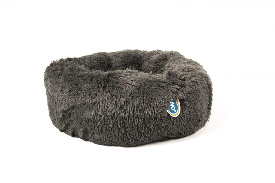 Donut bed met lang haar grijs