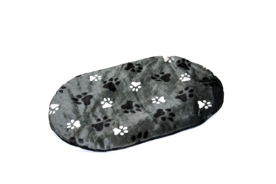 Ovaal kussen met poot afdruk grijs for Www comfort kussen nl