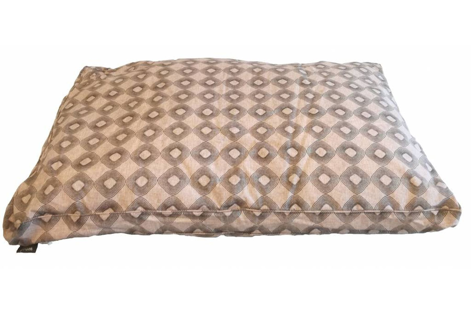 Woef Woef Hondenkussen Lounge Luxe Rondo taupe