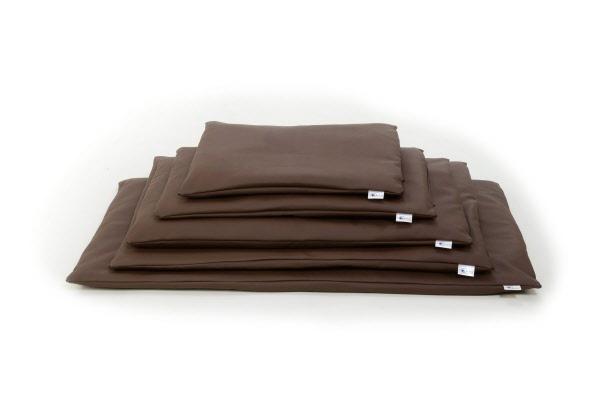 Comfort kussen losse hoes voor benchkussen leatherlook bruin for Www comfort kussen nl