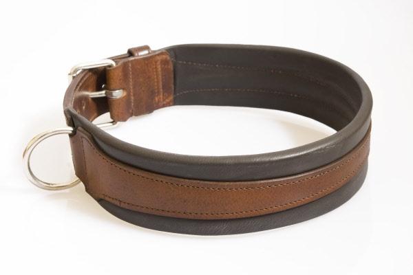 Hondenhalsband extra breed bruin for Www comfort kussen nl