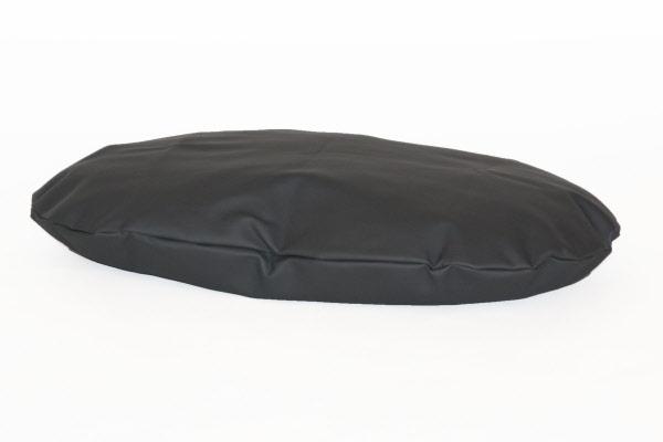 Hondenkussen ovaal leatherlook antraciet for Www comfort kussen nl