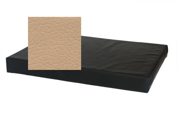 Losse hoes hondenbed/matras Leatherlook beige