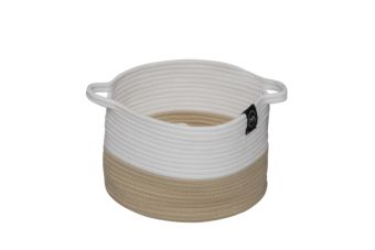 Home Collection Pet Cave Ribbon beige/wit