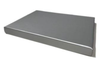 Orthopedisch hondenbed Leatherlook silver